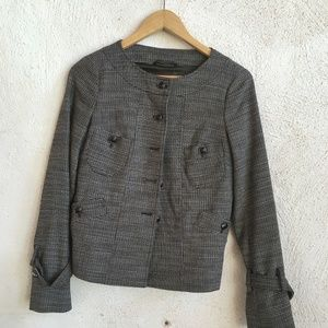 MAX AND CO GREY WHITE TEXTURAL JACKET